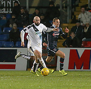 Dundee&rsquo;s Gary Harkins goes past Ross County&rsquo;s Jackson Irvine - Ross County v Dundee, Ladbrokes Premiership at Victoria Park<br /> <br />  - &copy; David Young - www.davidyoungphoto.co.uk - email: davidyoungphoto@gmail.com