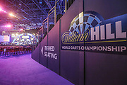 The main arena during the PDC William Hill Darts World Championship at Alexandra Palace, London, United Kingdom on 13 December 2019.
