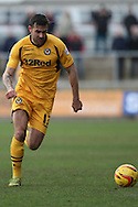 Andy Sandell of Newport County. Skybet football league 2 match, Newport county v Cheltenham Town at Rodney Parade in Newport, South Wales on Saturday 22nd Feb 2014.<br /> pic by Mark Hawkins, Andrew Orchard sports photography.