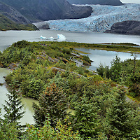 Mendenhall Glacier and Lake near Juneau, Alaska <br />