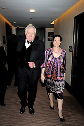 LORD HATTERSLEY and MAGGIE PEARLSTINE at the 2008 Costa Book Awards held at the Intercontinental Hotel, Hamilton Place, London on 27th January 2009.