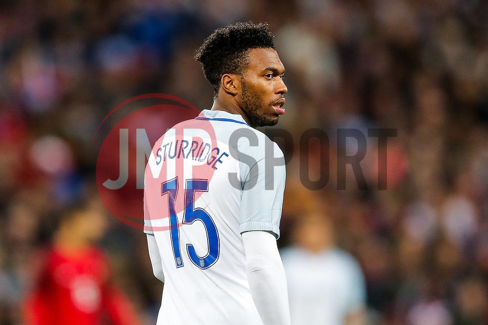 Daniel Sturridge of England looks on - Mandatory byline: Rogan Thomson/JMP - 02/06/2016 - FOOTBALL - Wembley Stadium - London, England - England v Portugal - International Friendly.