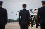Vice President Joe Biden walks from his helicopter to Air Force Two for a two-day campaign trip to Iowa on Monday, September 17, 2012 at Joint Base Andrews, MD.