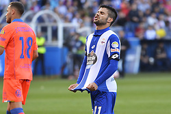 May 20, 2017 - Carles Gil after a bad shoot on goal. LA CORUNA SPAIN. MAY 20, 2017 - La Liga Santander match day 38 game. Deportivo La Coruna defeated Las Palmas with goals scored by Florin And one (4th and 28th minute) and Carles Gil (39th minute). Riazor Stadium, Spain. Photo by Monica Arcay Carro | PHOTO MEDIA EXPRESS (Credit Image: © Monica Arcay Carro/VW Pics via ZUMA Wire/ZUMAPRESS.com)