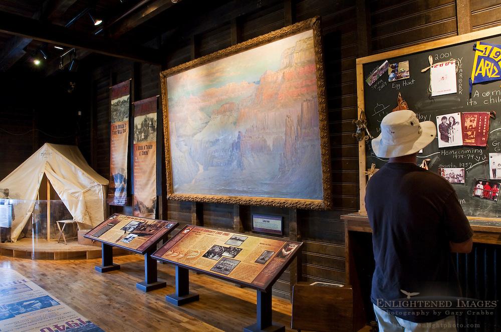 Exhibits at Verkamp's Visitor Center, Grand Canyon National Park, Arizona