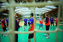 Players at practice of Slovenian handball men national team before going to Israel, on October 27, 2008 in Lasko, Slovenia. (Photo by Vid Ponikvar / Sportal Images)
