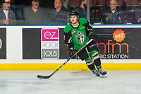 KELOWNA, BC - JANUARY 19:  Spencer Moe #11 of the Prince Albert Raiders warms up against the Kelowna Rockets at Prospera Place on January 19, 2019 in Kelowna, Canada. (Photo by Marissa Baecker/Getty Images)***Local Caption***