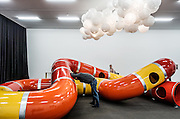 Switzerland, Zurich: Playground exhibition at Kunsthalle Zürich The Zurich West neighborhood has become home to galleries such as Hauser + Wirth, plus boutique hotels and eateries.