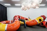Switzerland, Zurich: Playground exhibition at Kunsthalle Zürich The Zurich West neighborhood has become home to galleries such as Hauser + Wirth, plus boutique hotels and eateries.