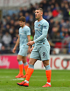 Ross Barkley (8) of Chelsea during the Premier League match between Cardiff City and Chelsea at the Cardiff City Stadium, Cardiff, Wales on 31 March 2019.
