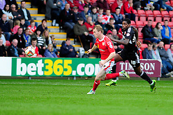 Bristol City's Jay Emmanuel-Thomas gives chase to the loose ball - Photo mandatory by-line: Dougie Allward/JMP - Tel: Mobile: 07966 386802 19/10/2013 - SPORT - FOOTBALL - Alexandra Stadium - Crewe - Crewe V Bristol City - Sky Bet League One