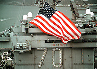 January 23, 2002, The USS CARL VINSON CVN-70 returns home to Puget Sound Naval Shipyard after a six- month deployment to the Arabian Sea. The USS Carl Vinson is on one of the first ships to return home after combat missions in support of OPERATION ENDURING FREEDOM.<br /> U. S. Navy Photo by PH2 Michael Watkins
