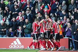 Goal, James Ward-Prowse of Southampton scores, Southampton 1-0 West Bromwich Albion - Mandatory by-line: Jason Brown/JMP - 07966386802 - 16/01/2016 - FOOTBALL - Southampton, St Mary's Stadium - Southampton v West Bromwich Albion - Barclays Premier League