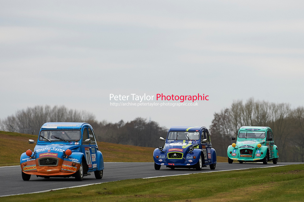 #71 John WIDDOWSON Citroen 2CV 602 during 2CVParts.com Classic Championship as part of the BARC NW - Championship Raceday  at Oulton Park, Little Budworth, Cheshire, United Kingdom. March 19 2016. World Copyright Peter Taylor/PSP. Copy of publication required for printed pictures.  Every used picture is fee-liable.