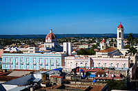 CIENFUEGOS, CUBA - CIRCA JANUARY 2020: Rooftops of Cienfuegos
