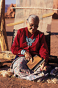 Susie Yazzie at her rug loom, Monument Valley, Navajo Tribal Park, Arizona.©1996 Edward McCain. All rights reserved. McCain Photography, McCain Creative, Inc..