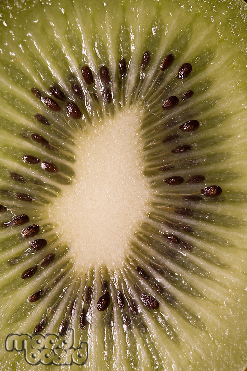 Close-Up View Of Sliced Kiwi Fruit