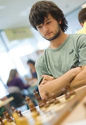 Marko Srebrnic in action during the Slovenian National Chess Championships in Ljubljana on August 9, 2010.  (Photo by Vid Ponikvar / Sportida)