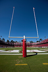Oct 8, 2011; Stanford CA, USA;  General view of goal posts before the game between the Stanford Cardinal and the Colorado Buffaloes at Stanford Stadium.  Stanford defeated Colorado 48-7. Mandatory Credit: Jason O. Watson-US PRESSWIRE
