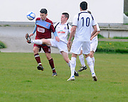 Rory Gartland Galway United and  Conor Meade Cobh Ramblers in Cappa Park in Knocknacarra, Galway. Photo:Andrew Downes.