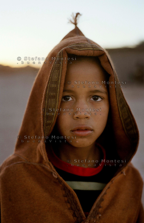 The Saharawi refugee camp  Smara..Sahrawi child.January 2008