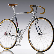 Bike on high gloss background