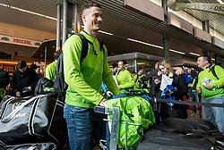 Ziga Pavlin during departure of Slovenia Olympic Team for PyeongChang 2018, on February 6, 2018 in Airport Joze Pucnik, Brnik, Slovenia. Photo by Morgan Kristan / Sportida