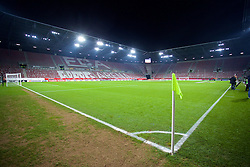 AUGSBURG, GERMANY - Thursday, February 18, 2016: The WWK Arena before the UEFA Europa League Round of 32 1st Leg match between Liverpool and FC Augsburg at the Augsburg Arena. (Pic by David Rawcliffe/Propaganda)