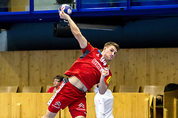05.01.2018, BSZF Suedstadt, Maria Enzersdorf, AUT, Handball Testspiel, Österreich vs Tschechien, im Bild Christoph Neuhold (AUT) // during a men' s international friendly handball match between Austria and Czech Republic at the BSZF Suedstadt, Maria Enzersdorf, Austria on 2018/01/05, EXPA Pictures © 2017, PhotoCredit: EXPA/ Sebastian Pucher