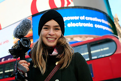 UK ENGLAND LONDON 5DEC12 - Elisa Kropp (27) of Alive4Fashion shoots on location in central London during the YouTube NextUp training and mentorship programme.....25 winners from YouTube's NextUp competetion were selected to receive an all-expenses paid trip to London where they are attending a week of training and mentorship.....jre/Photo by Jiri Rezac