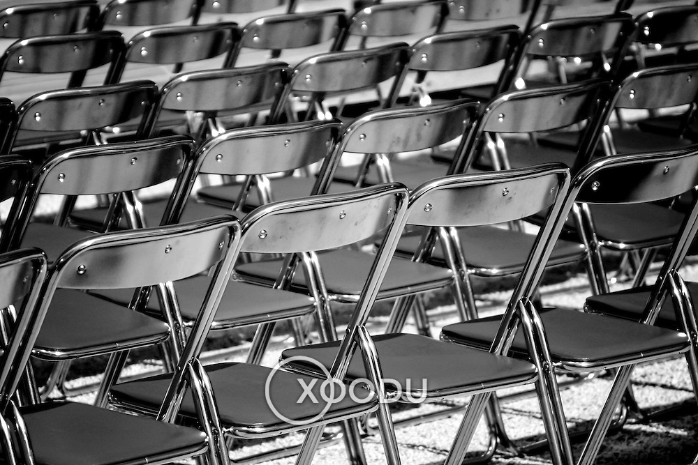 Collapsible chairs, Kyoto, Japan (June 2004)