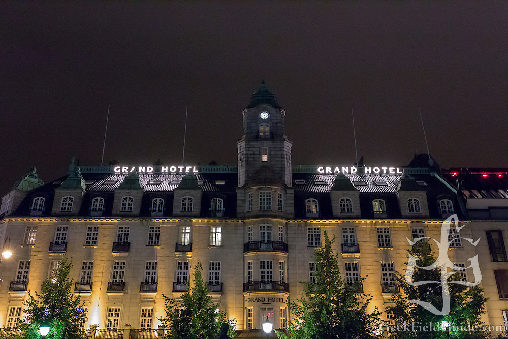 The Grand Hotel, in Oslo, Norway.