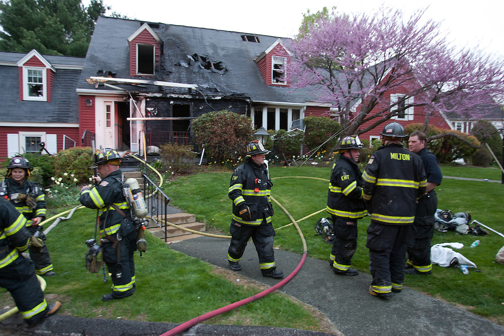 Milton, MA 05/03/2011.3rd alarm fire at 12 Azalea Dr..Alex Jones / www.alexjonesphoto.com