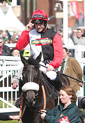 LIVERPOOL, ENGLAND - Thursday, April 8, 2010: Big Buck's ridden by Ruby Walsh during the opening day of the Grand National Festival at Aintree Racecourse. (Pic by David Tickle/Propaganda)