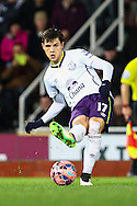 Muhamed Besic of Everton during the FA Cup match at the Boleyn Ground, London<br /> Picture by David Horn/Focus Images Ltd +44 7545 970036<br /> 13/01/2015