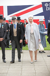 EPSOM- UK - 4th June-2016: Prince and Princess Michael of Kent with  HM Queen Elizabeth II accompanied by HRH The Duke of Edinburgh attend Epsom Races in Surrey to watch the Derby Horserace.<br /> <br /> Photo by Ian Jones