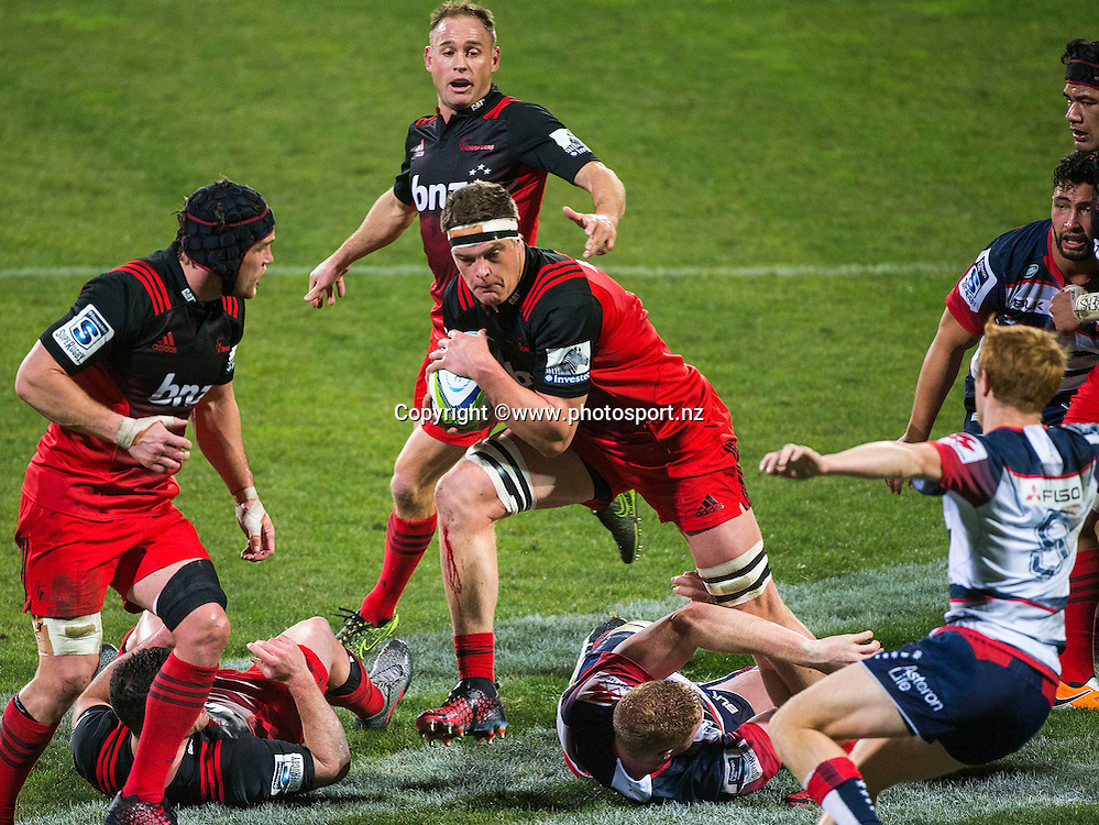 Scott Barrett of the Crusaders during the Investec Super Rugby game, BNZ Crusaders v Rebels at AMI Stadium, Christchurch. 09 June 2016 Photo: Joseph Johnson / www.photosport.nz