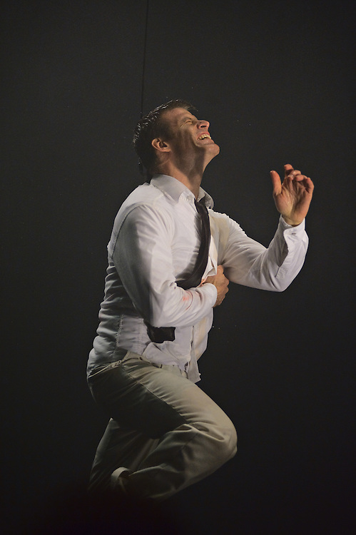 "Daniel Case in a scene from ""Fuerza Bruta"" at the Daryl Roth Theatre, New York, New York"