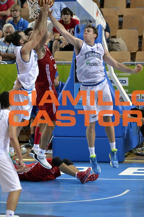 DESCRIZIONE : Capodistria Koper Slovenia Eurobasket Men 2013 Preliminary Round Italia Turchia Italy Turkey<br /> GIOCATORE : Nicolo Melli <br /> CATEGORIA : Rimbalzo<br /> SQUADRA : Italia<br /> EVENTO : Eurobasket Men 2013<br /> GARA : Italia Turchia Italy Turkey<br /> DATA : 05/09/2013<br /> SPORT : Pallacanestro&nbsp;<br /> AUTORE : Agenzia Ciamillo-Castoria/GiulioCiamillo<br /> Galleria : Eurobasket Men 2013 <br /> Fotonotizia : Capodistria Koper Slovenia Eurobasket Men 2013 Preliminary Round Italia Turchia Italy Turkey<br /> Predefinita :