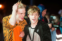 6 November 2013, Meadowhall Sheffield South Yorkshire Fans Watch the Christmas Light Switch On Charity Concert. The Vamps  Bradley Simpson,     James McVey, Connor Ball, Tristan Evans<br /> <br /> 6th November 2013<br /> Image © Paul David Drabble<br /> www.pauldaviddrabble.co.uk