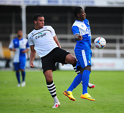 Bristol Rovers' Snaquille Hunter controls the ball well under pressure - Photo mandatory by-line: Dougie Allward/JMP - Tel: Mobile: 07966 386802 16/07/2013 - SPORT - FOOTBALL - Bristol -  Hereford United V Bristol Rovers - Pre Season Friendly