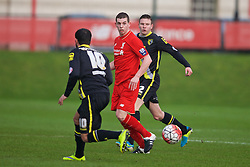 KIRKBY, ENGLAND - Tuesday, January 5, 2016: Liverpool's Jon Flanagan during the Under-21 Friendly match against Morecambe at the Kirkby Academy. (Pic by David Rawcliffe/Propaganda)