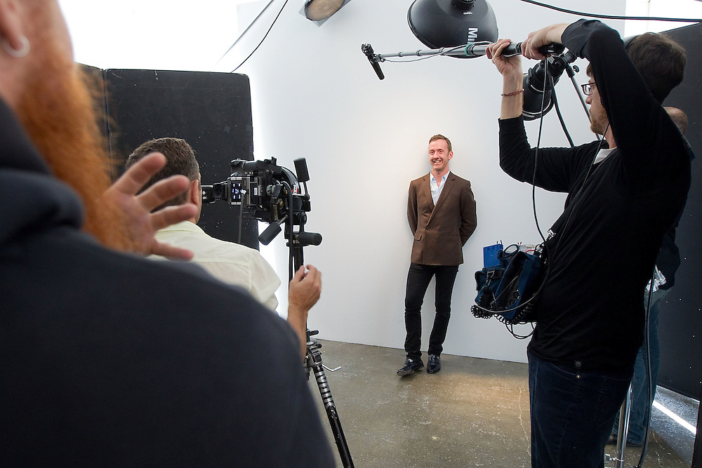 Tom Stubbs video shoot for Macy's in New York City