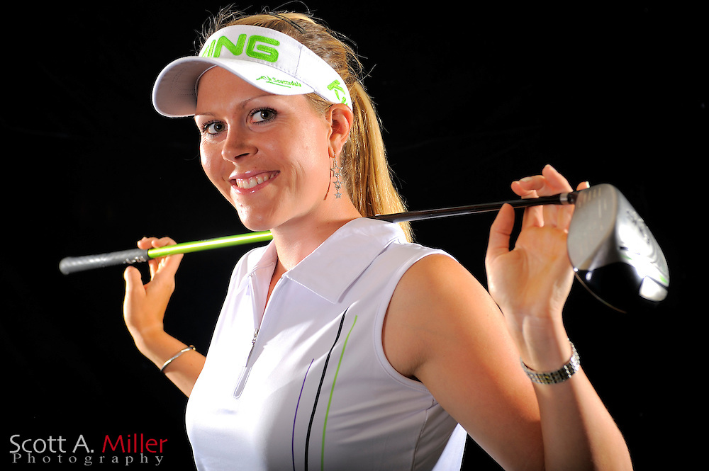 Caroline Westrup during a portrait shoot prior to the LPGA Future Tour's Daytona Beach Invitational at LPGA International's Championship Courser on March 28, 2011 in Daytona Beach, Florida... ©2011 Scott A. Miller