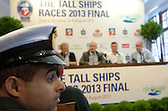 Captain Hilal Abdullah Al Mahthoori from Oman while press conference during The Tall Ships Races 2013 on Odra River in Szczecin, Poland.<br /> <br /> Poland, Szczecin, August 02, 2013<br /> <br /> Picture also available in RAW (NEF) or TIFF format on special request.<br /> <br /> For editorial use only. Any commercial or promotional use requires permission.<br /> Mandatory credit:<br /> Photo by © Adam Nurkiewicz / Mediasport