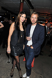 ZARA SIMON and SAM PELLY at a party to celebrate the launch of the new Vertu Constellation phone - the luxury phonemakers first touchscreen handset, held at the Farmiloe Building, St.John Street, Clarkenwell, London on 24th November 2011.