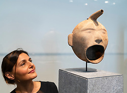 Vase in the form of a human face, Maya Culture, Guatemala