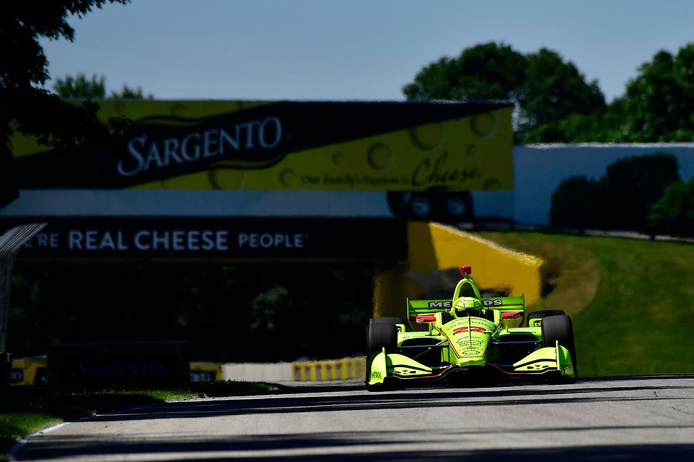 Simon Pagenaud, Team Penske Chevrolet<br /> Saturday 23 June 2018<br /> KOHLER Grand Prix at Road America<br /> Verizon IndyCar Series<br /> Road America WI USA<br /> World Copyright: Scott R LePage