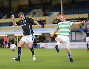 Dundee's Iain Davidson and Celtic's Jack Breslin  - Celtic v Dundee  SPFL Development League at Cappielow<br /> <br />  - &copy; David Young - www.davidyoungphoto.co.uk - email: davidyoungphoto@gmail.com