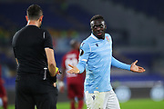 Bobby Adekanye of Lazio protests against referee Ali Palabiyik during the UEFA Europa League, Group E football match between SS Lazio and CFR Cluj on November 28, 2019 at Stadio Olimpico in Rome, Italy - Photo Federico Proietti / ProSportsImages / DPPI